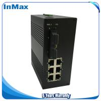 China Managed networking Switch, Layer 2 8 Port 100M Din-Rail Optical fiber ethernet switch wholesale