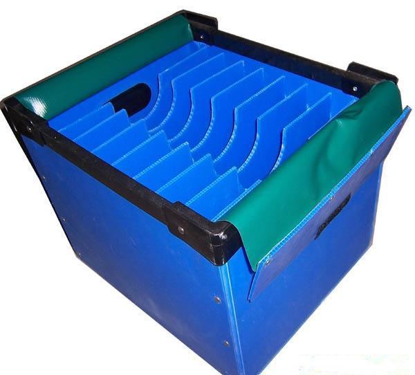 Quality Virgin Polypropylene Turnover Corrugated Plastic Boxes Flame Retardant for sale