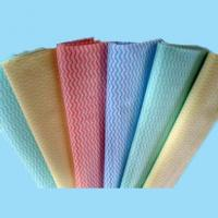 China cross lapping spunlace non woven fabric for household/kitchen cleaning wipes wholesale