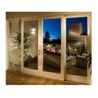 China Glass Wooden Sliding Doors Full Set Four Leaf White Painted for Living Room wholesale