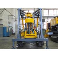 China Yellow Spindle Crawler Core Drilling Rig , Drilling Diameter 75 - 800mm wholesale