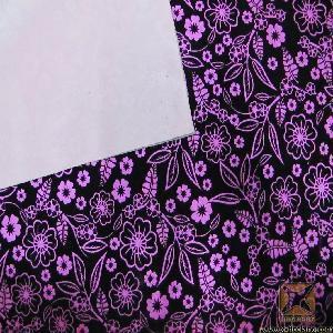 China PVC Satin Printed Flocked Leather Fabric wholesale