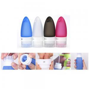 China Silicone Portable Liquid soap dispenser bottle with hole design / Shampoo dispenser bottle wholesale
