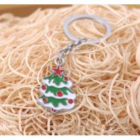China Best sold holiday gift! enamel filling metal Christmas tree keychain on sale