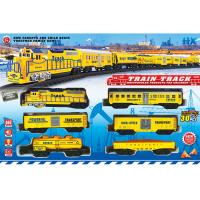 China ABS Plastic Classic Battery Operated Train Track Set W / Lights Sound wholesale