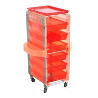 China 6 Layers Melamine Board Drawer Hairdresser Salon Trolley Cart wholesale