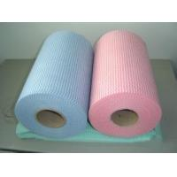China House , Hospital , Agriculture Spunlace Nonwoven Fabric Roll 50% Viscose 50% Polyester 60gsm wholesale