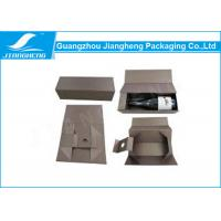 China Custom Printed Cardboard Wine Packing Boxes / Packaging Box With Handle wholesale