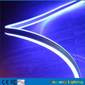 China Double-sided neon flex light 8*18mm mini size LED neonflex strip ribbon 24v blue color wholesale