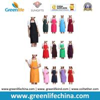 Kitchen cooking tool accessory hot sale apron with front pocket different colors in stock