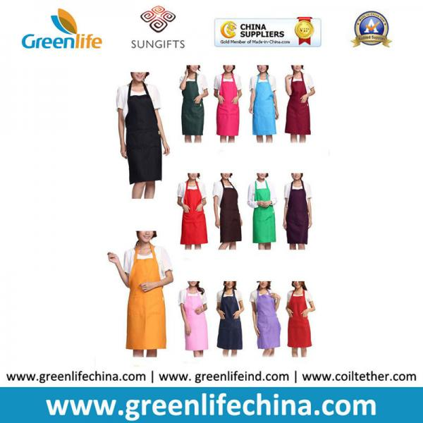 Quality Kitchen cooking tool accessory hot sale apron with front pocket different colors in stock for sale