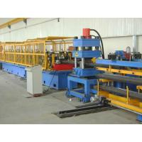 China Highway Guardrail Roll Forming Machine , Hydraulic Metal Roof Tile Machine wholesale
