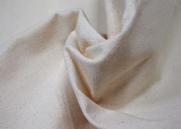 Quality Durable Spinning White 100 Cotton Canvas For Bags High Tear Strength for sale