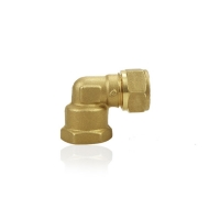 China 90 Deg Plumbing  Brass Compression Fittings For Air Conditioning wholesale