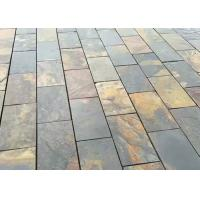 China Gray Yellow Natural Stone Slate Tile For Flooring , Smooth Square Slate Tiles wholesale