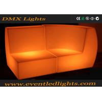 China Modern Classic style Led Sofa rental outdoor wicker plastic led furniture lighting on sale