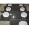 China Tanbrown vanity top with ceramic sink wholesale