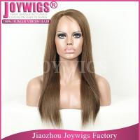 China AAAAA grade glueless full lace wig with 4x4inch silk top, blonde silk top full lace wig wholesale
