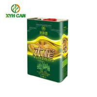 China Heathy 5L Oil Rectangular Tin Containers CMYK Printing  OEM Service wholesale