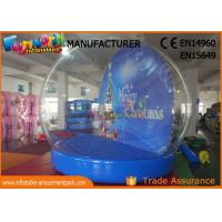 China Indoor 2.5m ~ 5m Christmas Santa Snow Globe Inflatable With 1 Year Warranty wholesale