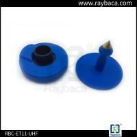 China 7.4 G Animals Blue EID Ear Tags For Pigs 30mm Diameter 22mm Height on sale