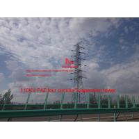 MEGATRO 110KV F4Z four circuits Suspension tower,power distrbution electric steel tower