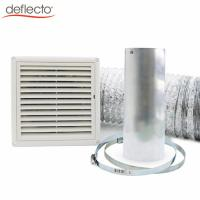 China 6 Inch 150mm Range Hood Venting Kit with Gravity Louver Ventilation Cover Flexible Duct Hose for Kitchen Venting wholesale