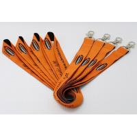 """China 5/8"""" Custom flat polyester lanyards silkscreen printed with lobster claw attachment wholesale"""