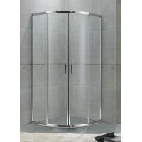 Economic Aluminum Alloy Quadrant Shower Enclosures Matte Sliver For Hotel / Home