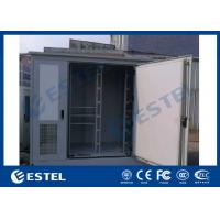 China Three Bay Racking Outdoor Telecom Base Station Cabinet White Color Three Doors Air Conditioner Cooling wholesale