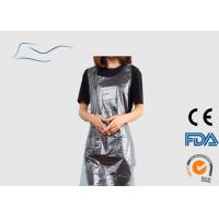 China 10G Water Resistant Apron , Belt On Waist Disposable White Plastic Aprons wholesale