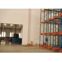 China Multi Deep Shuttle Storage Pallet Racks 2 Aisles With 400W Travelling Motor wholesale