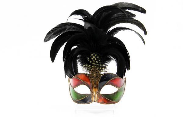 """Quality Masque en plastique de Colombina avec la plume 10"""" PF3029F for sale"""