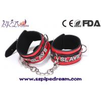 Buy cheap Leather With diamond harness bondage hand ankle cuffs fetish slave shackles games for adults from wholesalers