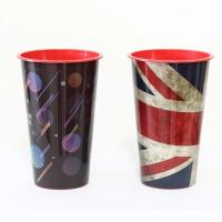 China FDA 3D Lenticular Cup With Lid , Trade Assurance Single Wall Durable Plastic Tumbler Cups wholesale