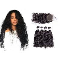 China Smooth Brazilian Water Wave Hair Weave / Unprocessed Remy Water Wave Weave on sale