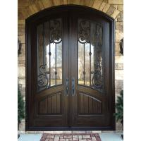 Arched Top Wrought Iron Double Door