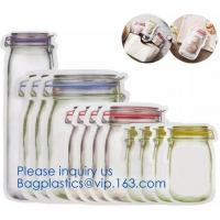 China FDA Customized Kitchen Reusable silicone Food,Snack, Vegetable, Meat Storage Bag,BPA Free ziplock Snack Bags for Preserv on sale