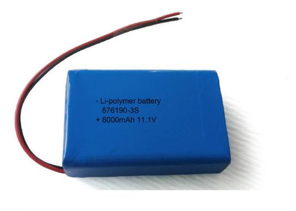 Quality OEM / ODM 6000mAh 11.1V Li Poly Battery Pack 876190 3S LED Battery Packs for sale