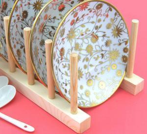 China Wood Flat Plate Drying Rack /Pot Lid Holder wholesale