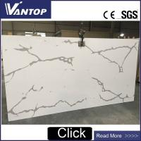 China VT9008-2 Calacatta White Quartz Countertop Stone Slab for Kitchen and Bathroom wholesale