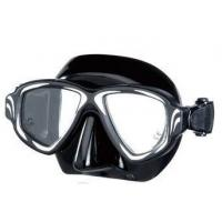China black comfortable safety Junior underwater diving / swimming face mask on sale