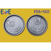 China Tinplate Can EOE Lid Round With Fully Open , Food Grade Soda Pop Can Cover on sale