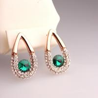 China Hot New Arrival 1pc MOQ Free Shipping China Fashion Jewelry Waterdrop Earrings for Wedding Gem Green Earrings Earrings on sale