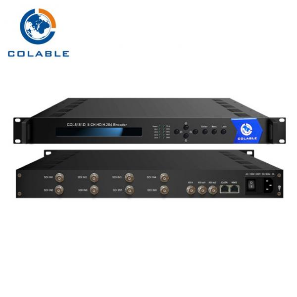Quality 8 In 1 Hdmi Mpeg4 Video Encoder , H 264 SDI Video Encoder For Digital TV Broadcasting Headend Equipment COL5181D for sale