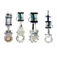 China stainless steel Wafer Type Knife Gate Valve With Pneumatic Actuator wholesale