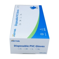 China Waterproof XS/S/M/L/XL Disposable PVC Gloves on sale