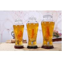 China 10L Juice Glass Wine Pot  Glass Food Canisters , Large Glass Jar With Glass Lid on sale