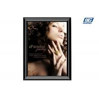 China DY05 A1 Black Painted Snap Open Frame Square Corner Poster Clip Holder wholesale