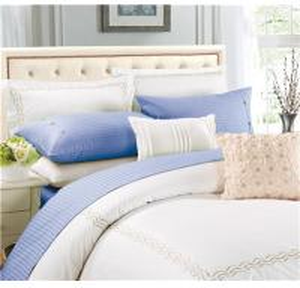 China Sateen Stripe Polyester Cotton Bedsheets 4pcs Sheet Set on sale
